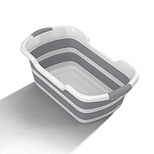 Shower Bañeras portátiles de silicona para mascotas Bañeras para lavar, Bañeras antideslizantes plegables para bebés Bañeras de seguridad para gatos y perros, Ahorro de espacio, Accesorios de baño