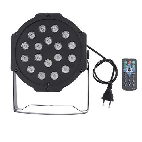 gazechimp Etapa Luces LED, Luces Estroboscópicas de Partido para Discoteca Luces con Sonido Activada y Teledirigida