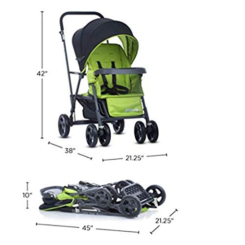 Joovy Caboose Graphite Stroller, Stand on Tandem, Sit and Stand, Red