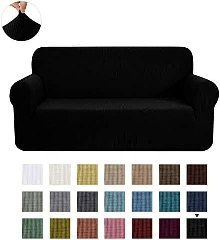 Best CHUN YI Stretch Sofa Slipcover 1-Piece Couch Cover Furniture Protector, 3 Seater Coat Soft with El