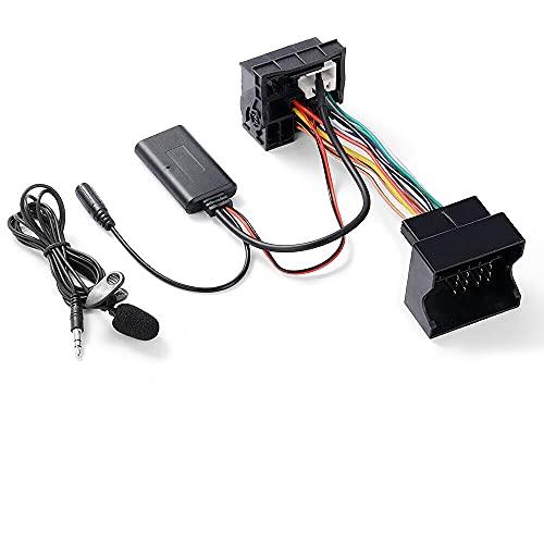 Modulo Adattatore audio AUX musicale Bluetooth Ricevitore con microfono compatibile con autoradio Peugeot 207 307 407 607 807 408 508 Citroen C1 C2 C3 C4 C5 C6 C8 DS3