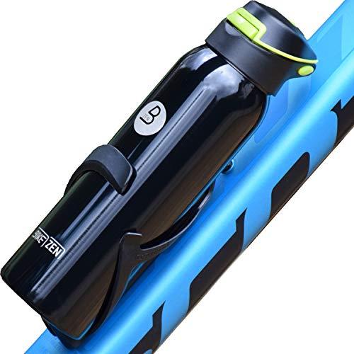 BIKEZEN Botella de agua isotérmica bicicleta bici 500 ml, Bidón ciclismo isotérmico de acero inoxidable, ecológica, reutilizable, sin BPA, con pipeta de silicona, resistente al agua a prueba de fugas