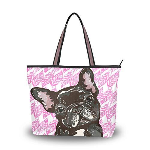 Ahomy, borsa a tracolla per cuccioli di bulldog francese, borsa a tracolla per attività all'aperto, palestra, escursionismo, picnic, viaggi, spiaggia, Multicolore (Multi), M
