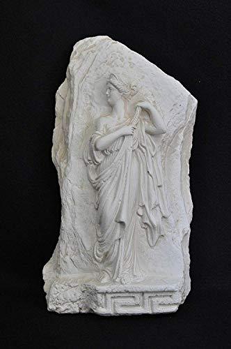 JV Moebel Helena Troja Tafel Wandrelief Antik Relief Wand Gemälde Bild Handarbeit Stein