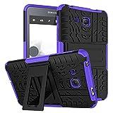 ZHIWEI Tablet PC Bolsas Bandolera Cubierta de Tableta para Samsung Galaxy Tab A 2016 7.0 Pulgadas / T280 Textura de neumáticos TPU + PC Funda Protectora con Soporte de Mango Plegable (Color : Purple)