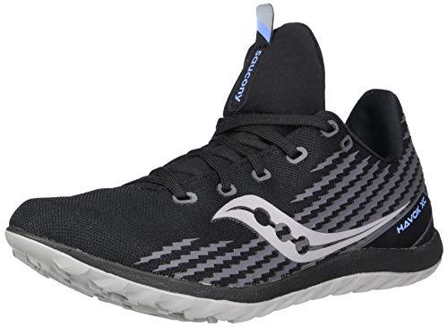 Saucony Women's Havok XC3 Flat Cross Country Running Shoe, Black, 7.5
