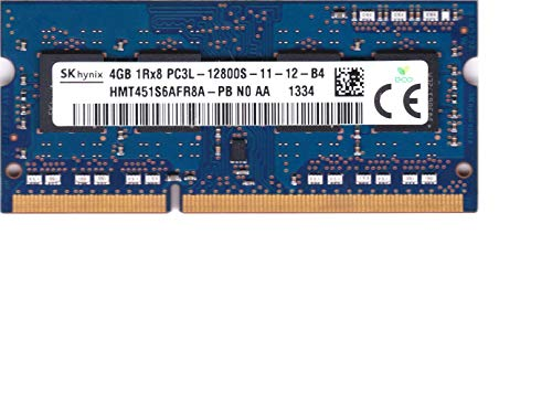 Hynix HMT451S6AFR8A-PB 4GB PC3-12800 DDR3-1600MHz non-ECC Unbuffered CL11 204-Pin SoDimm 1.35V Low Voltage Single Rank Memory Module