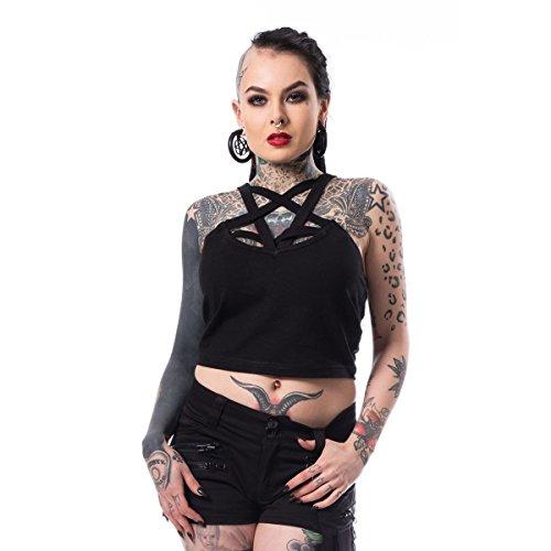 Heartless Hanan Pentagram Sexy Crop Top - Black (L)