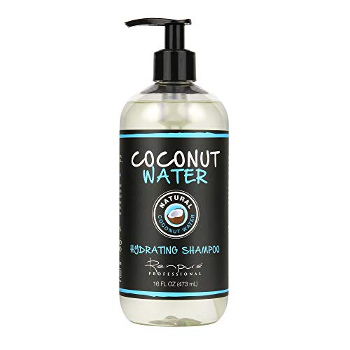 RENPURE, Professional Water Hydrating Shampoo, Clear, Coconut, 16 Fl Oz