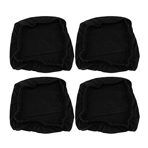 4x schwarz dehnbar elastische Schonbezüge Abdeckung Esszimmer Stuhl Sitzbezug Esszimmerstuhl
