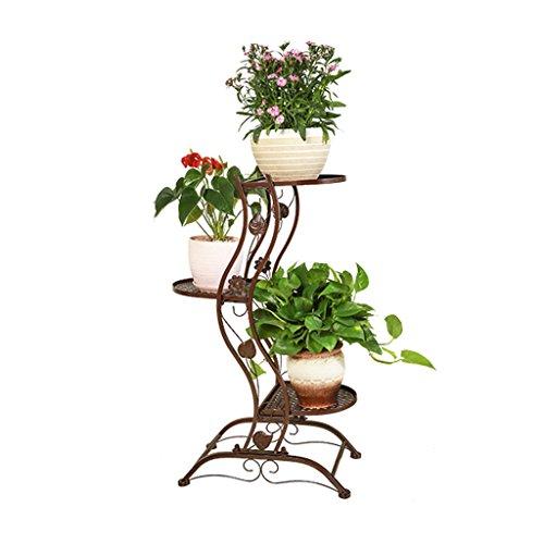Étagères d'angle Supports de pots Support de fleur support de fleur créative en fer forgé support de présentoir de plancher de radis vert support de pot de fleur charnue de balcon à plusieurs étages d