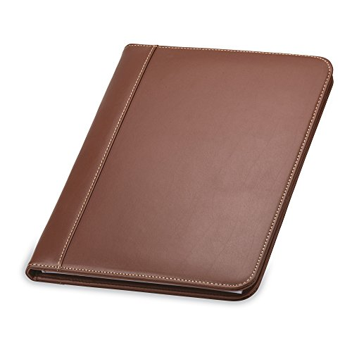 Samsill Contrast Stitch Leather Padfolio – Portfolio Folder/Business...