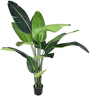 YATAI نباتات طبيعية تقريبًا طيور الجنة الاصطناعي حوالي مترين عالية شجرة صناعية لتزيين المنزل والحديقة - نباتات مكتبية - دا...
