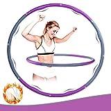 WOTEK Fitness Reifen Hoop Erwachsene und Kinder,Gewichteter Hoop zur Beschleunigung des...