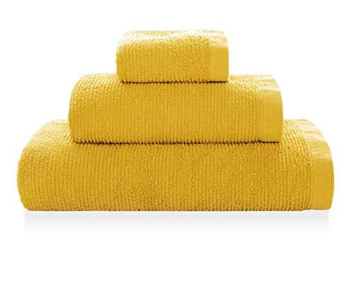 Sorema Toalla de Mano 50 x 100 cm, Color Amarillo