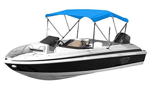 "Review Eevelle Sunset 3 Bow Boat Bimini Top Cover Includes 600D Canvas, 1"" Aluminum Frame, Hardwar..."