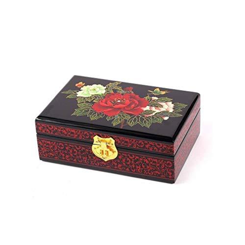Caja de joyas lacada – Los 3 piñones – Madera...