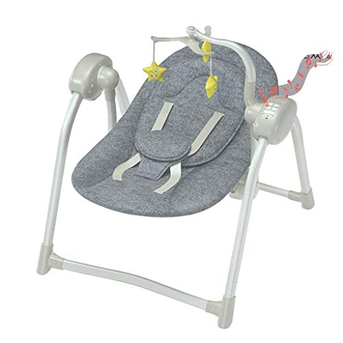 N/Z Living Equipment Schaukelstuhl Neugeborene Sway Baby Swing Tragbarer Baby Schaukelstuhl Türsteher Bluetooth Musikstuhl Abnehmbarer Esstisch Klappbett (Farbe: Grau)
