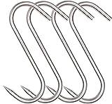 HONSHEN Meat Hook, 8Inch Heavy Duty S-Hooks Stainless Steel Meat Processing Butcher Hooks (10mm8inch)
