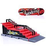 Sipobuy Assemblée DIY Doigt Platine De Planche À roulettes Camion Plateau De Skate Park avec des Accessoires De Rampe (Scène F)