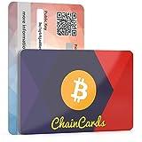ChainCards Premium Krypto-Wallet - Tarjeta para guardar tus llaves de forma segura para acceder al Kryptowelt - Llave de seguridad para criptomoneda - Monedero libre fabricado en Alemania (Bitcoin)
