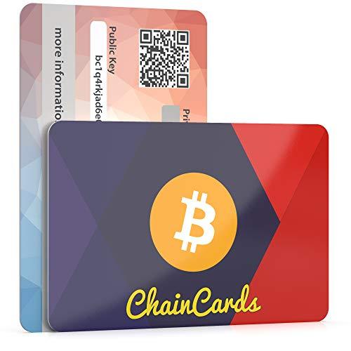 ChainCards Premium Krypto-Wallet - Karte zur sicheren Aufbewahrung Ihrer Keys für den Zugang in die Kryptowelt - Sicherheitsschlüssel zur Kryptowährung - Offline-Wallet Made in Germany (Bitcoin)
