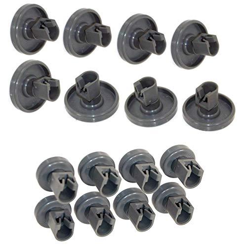Rotelle Lavastoviglie Rex Electrolux, Zanussi, AEG, Rex, Electrolux, Ikea. Set Completo per Cestello Superiore e Inferiore
