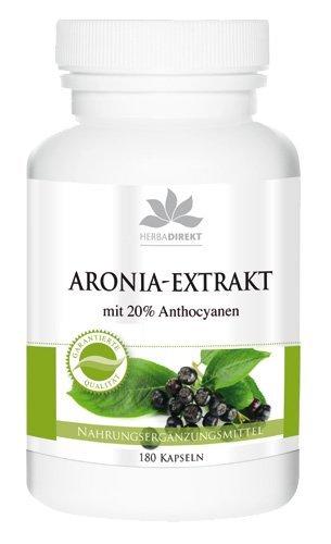 Extracto de Aronia – herba direkt – 180 Cápsulas – Producto vegetariano