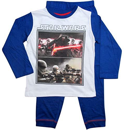 Star Wars Pyjama Kollektion 2017 Lang 104 110 116 122 128 134 140 146 Jungen Neu Kylo Ren Sturmtruppler Schlafanzug Stormtrooper Weiß-Blau (Blau-Weiß, 116-122)
