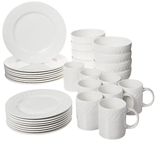 Pfaltzgraff Sylvia Dinnerware Set, 32 Piece, White