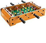 AJH Home Tabletop Foosball Table Soccer Game para niños Portable Compact Mini Table Top Football Games for Arcades, Game Room, Kids Fácil de Montar