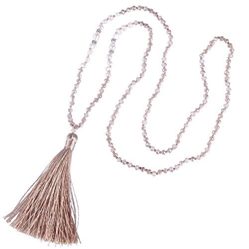 KELITCH della Boemia della Collana della Nappa della Perla Naturale di Cristallo Borda la Collana A Lunga Y Collana A Catena delle Donne della Perla C