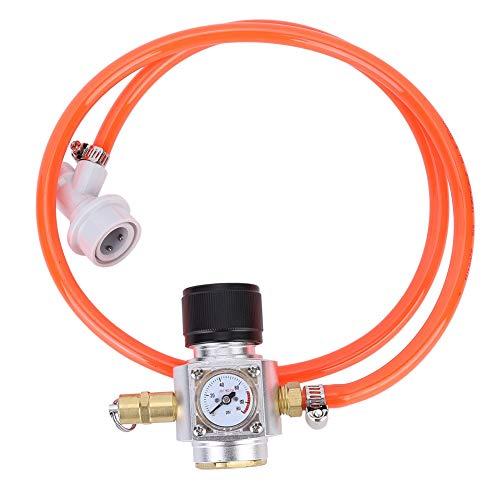 Kit de manómetro - Regulador de gas CO2 de acero inoxidable, manómetro de cerveza de nivel 2 con accesorios de válvula de seguridad, 19,7 oz
