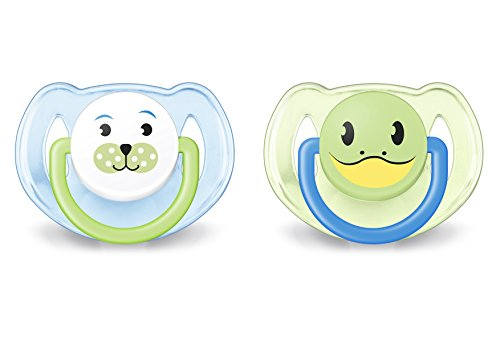 Philips Avent Classic - Chupete para 6-18 meses, color azul/verde