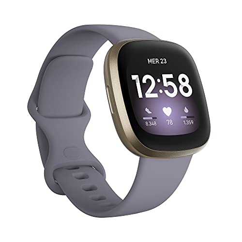 Fitbit Versa 3 Smartwatch per Benessere e Forma Fisica con GPS Integrato, Rilevazione Continua del Battito Cardiaco, Assistente Vocale e Durata della Batteria oltre 6 Giorni, Esclusiva Amazon