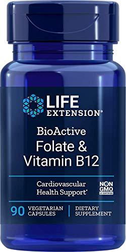 Life Extension Bioactive Fólico y Vitamina B12 90 Cápsulas Vegetarianas 180 g