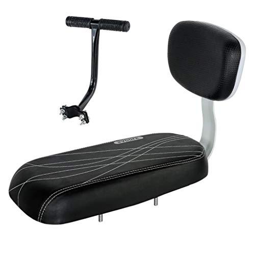 Asiento de bicicleta para niños Bicicleta asiento trasero de la bicicleta de la bici MTB de la PU de cuero suave del amortiguador Parrilla trasera del asiento del asiento infantil con el resto trasero