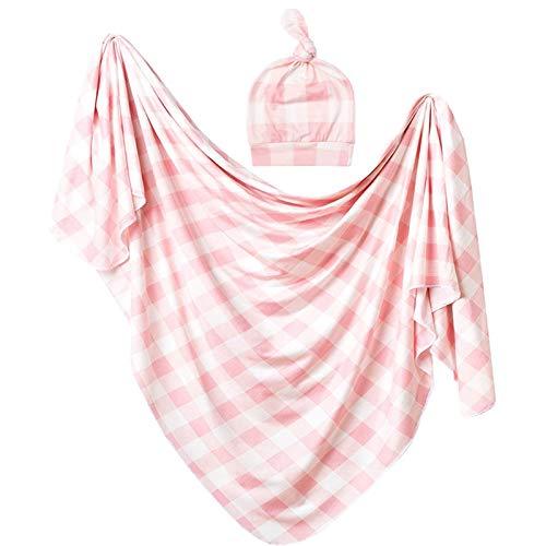 NINGYE Baby-Wickeltuch mit Mütze, Neugeborenen-Decke, Schlafsack