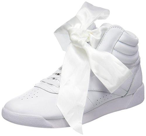 Reebok F/s Hi Satin Bow, Zapatillas de Gimnasia Mujer, (White/Skull Grey White/Skull Grey), 38 EU