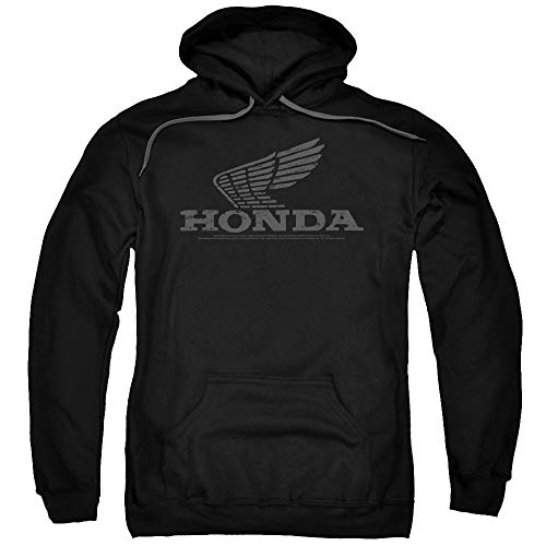 Honda Vintage Wing Unisex Adult Pull-Over Hoodie for Men and Women, X-Large Black