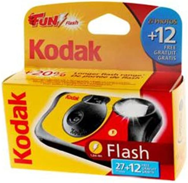 Kodak Fun Flash - Cámara desechable con flash (39 fotografías 5 unidades)