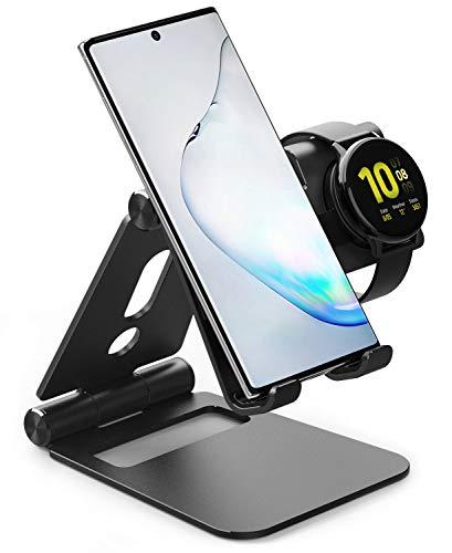 Ringke Super Klappständer [2 in 1] Tragbares Faltbar Handy & Smartwatch Ständer für Galaxy Watch Active 2 & 1 (40/44 mm), iPad, Nintendo Switch, Tablet, Smartphone