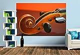 Premium Foto-Tapete Schnecke einer Geige (versch. Größen) (Size M | 279 x 186 cm) Design-Tapete, Wand-Tapete, Wand-Dekoration, Photo-Tapete, Markenqualität von ERFURT