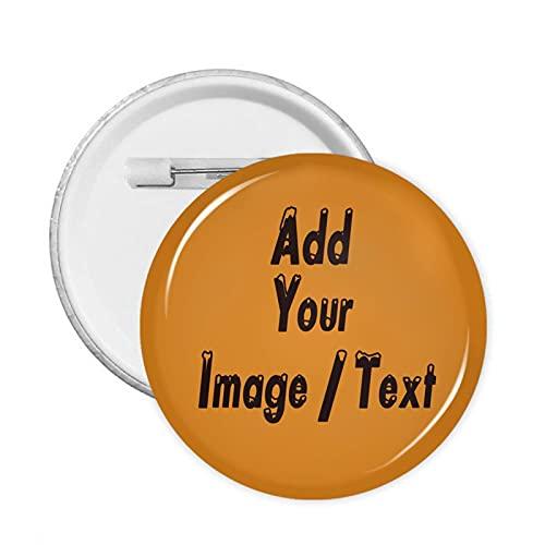 Badge rond sur mesure avec votre photo pour sacs à dos, vêtements, chapeaux, sacs, décoration pour homme, femme, enfant, 2.3 inch, Polychlorure de vinyle,