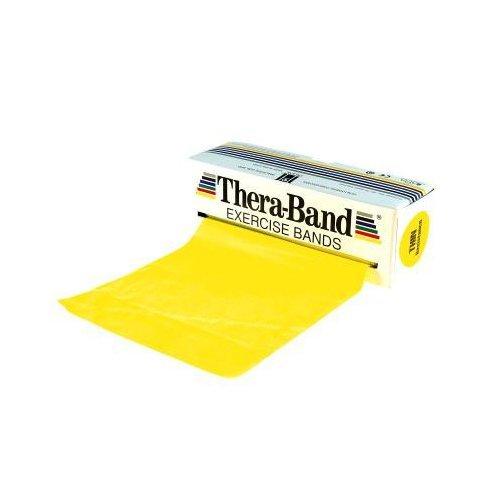 Theraband Gymnastikband für Fitnessübungen/Physiotherapie, Yellow (Light), 4 m