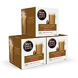 Nescafé DOLCE GUSTO CAFÉ CON LECHE DESCAFEINADO - Pack de 6 x 16 cápsulas - Total: 96 Cápsulas