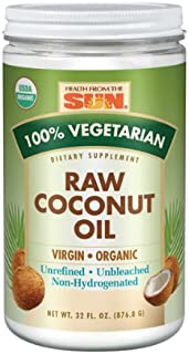 Best health from the sun raw coconut oil Reviews