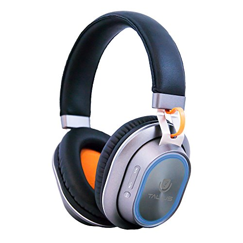 Talius HPH-5004BT Auriculares Bluetooth CSR 4.0, iluminación LED RGB, Color Gris