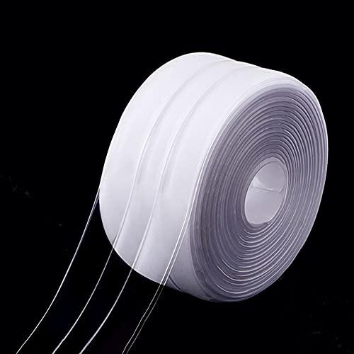Cinta adhesiva para bañeras,PVC cinta autoadhesiva impermeable y a prueba de moho,tira de sellador, doble pliegue, Burletes adhesivos para calafateo, Sellado de Pared Cinta,Transparente(320 * 3.8cm)