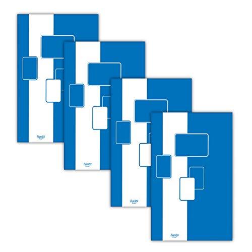 Notizblock / Briefblock A4, kariert, 100 Blatt Bantex Budget, 4 Stück Packung
